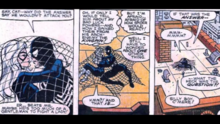 The Black Cat consoles Spider-Man after a badly ended fight.
