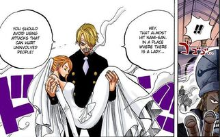 Sanji Carries Nami In His Arms