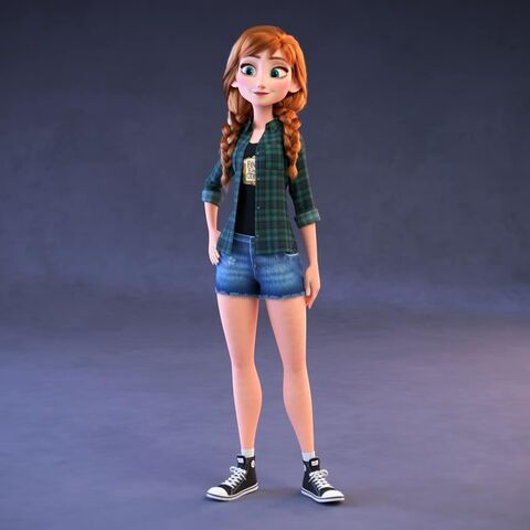 Netizen Anna wearing her modern, casual clothes from <i>Ralph Breaks the Internet</i>.
