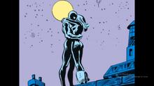 Spider-Man kisses the Black Cat