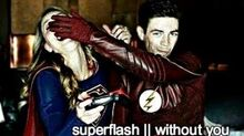Superflash without you (AU)