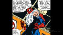 Felicia tricks Spider-Man into believing that she's crazy about him