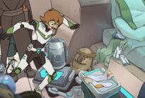 Pidge kept hunk's sculpture