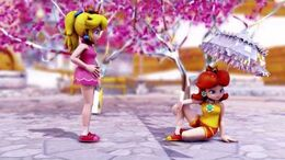 MMD MEME Peach & Daisy - BURNT RICE