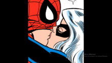 Black Cat and Spider-Man first kiss