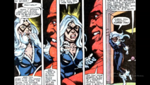 Felicia discovers that Kingpin has given her the powers to harm the spider