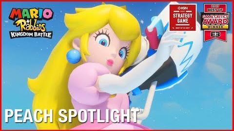 Mario + Rabbids Kingdom Battle Peach Character Spotlight Gameplay Trailer Ubisoft NA