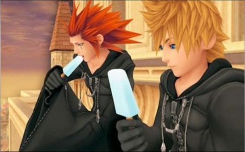 Image result for roxas eating ice cream