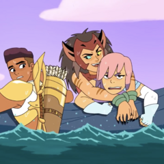 Catra teasing Glimmer and Bow.