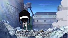 Zoro stops sanji from sacrificing himself