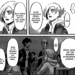 Annie expresses her respect for Eren.