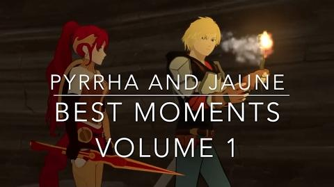 RWBY- Pyrrha And Jaune Best Moments - Volume 1