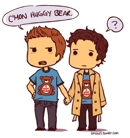 File:Supernatural - Destiel Huggy Bear (brakes).png