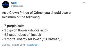 DC Comics Tweet