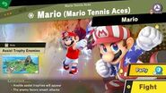 132. Mario Mario Tennis Aces - Fair Spirit Battle - Super Smash Bros