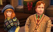 Molly and Arthur at Hogwarts