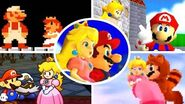 Evolution of Mario rescues Princess Peach (1985-2017)