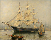 Ori 333-34264-963020-Captain-Arthur-Small-painting-Clipper-ship-Stag-Hound-picture1