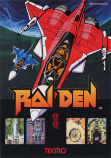 Raiden arcadeflyer