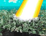 Laser destroying Earth