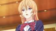 Erina's arrival at the entrance exams (anime)