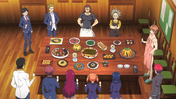 Jōichirō presents a feast to Polar Star (anime)