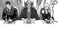 The judges opening Ryō's saury dish