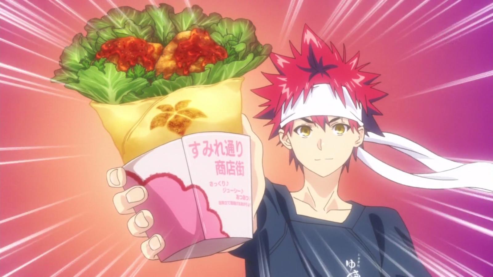 Food Wars Ikumi sumire karaage roll | shokugeki no soma wiki | fandom