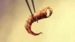 Tentaculos de Calamar a la plancha encurtidos en mantequilla de maní