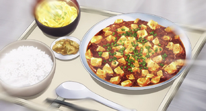 Yukihira Mapo Doufu Meal Anime