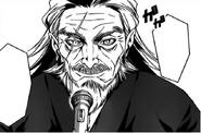 Senzaemon Nakiri begins a speech