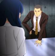 Dōjima announcing the rules (anime)