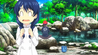 Megumi and Soma lakeside fishing (anime)