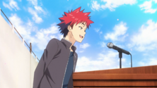Soma and the infamous speech (anime)