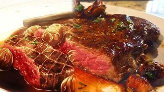 ELITE 10 FOOD WARS Yukihira Soma VS Eishi Tsukasa 1st seat - Coffee (venison) Steak with Chestnut