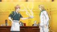 Isshiki serves Julio