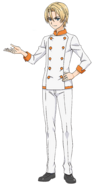 Takumi Aldini ganzer Körper (Anime)