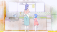 Young Megumi with her mother (anime)