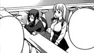 Kikuchi and Tsunozaki talking