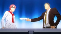 Dōjima demands Shinomiya to try Megumi's dish (anime)