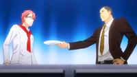 Dōjima demands Shinomiya to try Megumi's dish (anime)