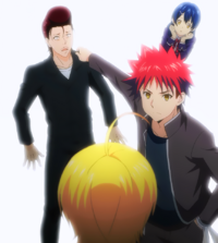 Sōma defends Kanichi (anime)