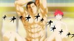 Dōjima taking a bath (anime)