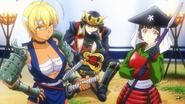 Warriors Ikumi, Soma, amd Mayumi