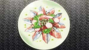 Scorched Pacific Saury Carpaccio (anime)
