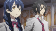 Megumi and Ryō at Tōtsuki HQ (anime)