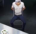 Akira preparing his match against Ryo (anime).png