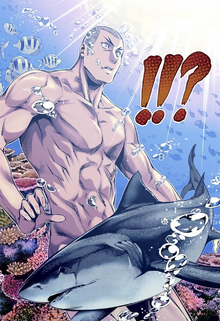 Gin is submerged by Ryō's dish