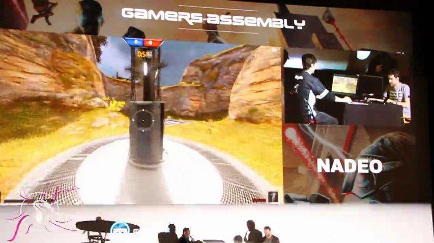 Shootmania à la cérémonie d'ouverture de la Gamers Assembly