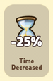 Time Decreased -25%